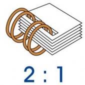 雙 線 鐵 圈 2:1